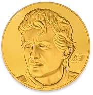 AYRTON SENNA 30-OZ GOLD COIN