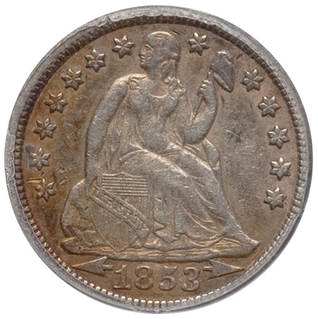 1853 With Arrows Dime