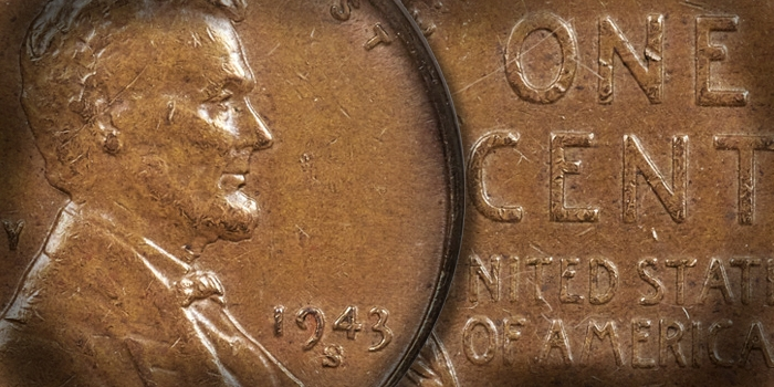 US Coin Profile - 1943-S Lincoln Cent Error Struck on a