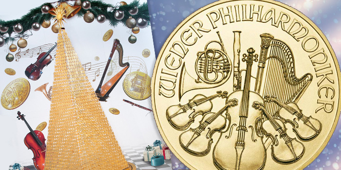 Vienna Philharmonic Christmas Tree Gold Coins