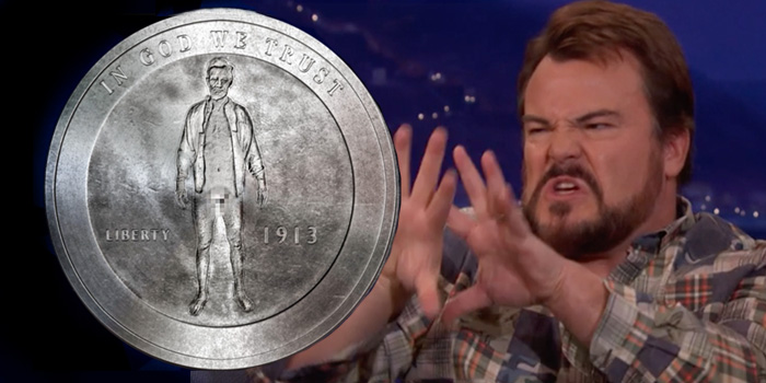 Comedian Jack Black Shares His Spicy Coin Collection on Conan