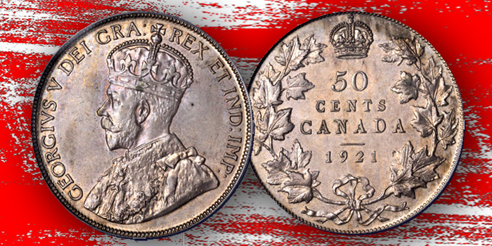 50 Cents 1921 Canada - Stack's Bowers - King of Canadian Coins