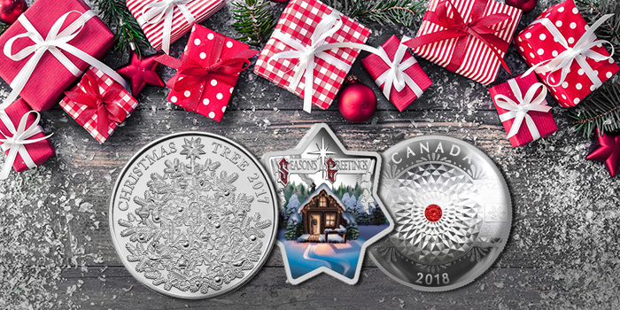 Dillon Gage Holiday 2017 coins and medals