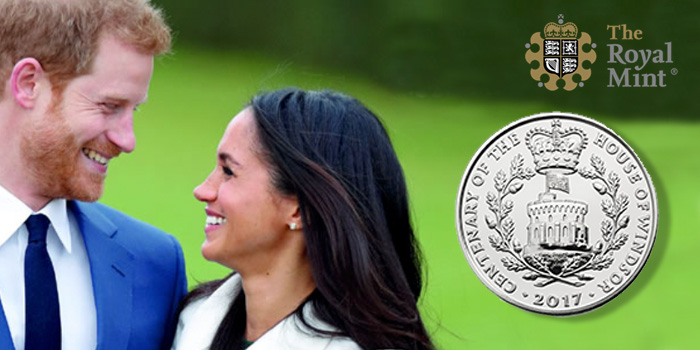 Prince Harry and Meghan Markle Commemorative Coin Centenary of the House of Windsor Royal Mint