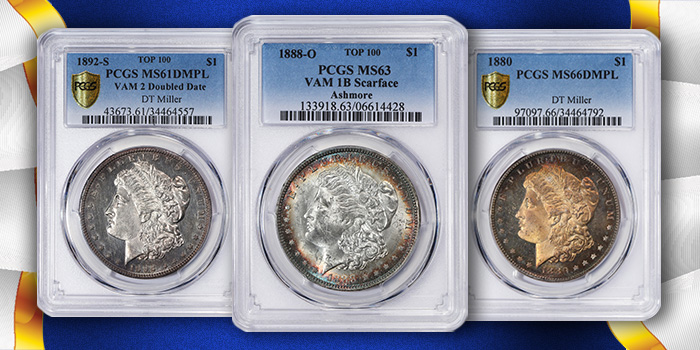Morgan Dollar Super Set PCGS Miller / Ashmore