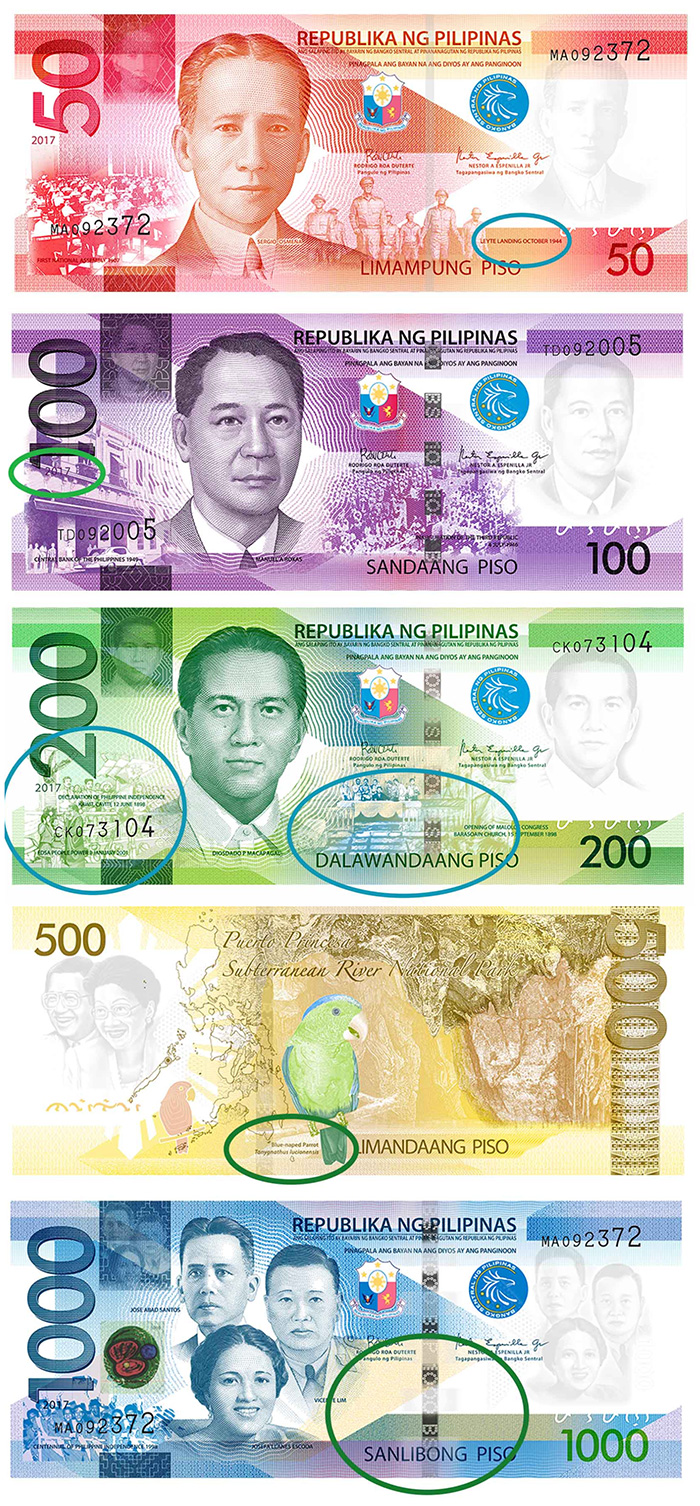 world paper money Bank of Philippines Banknotes 2017