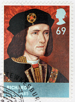 Richard III Stamp United Kingdom
