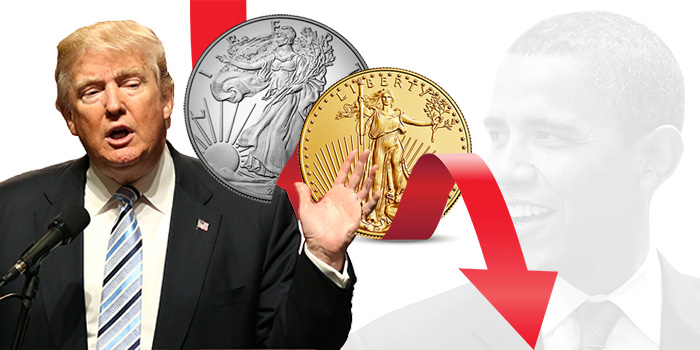 Donald Trump - Barack Obama - Silver Bullion Coin