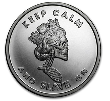 Keep Calm and Slave On Silver Round
