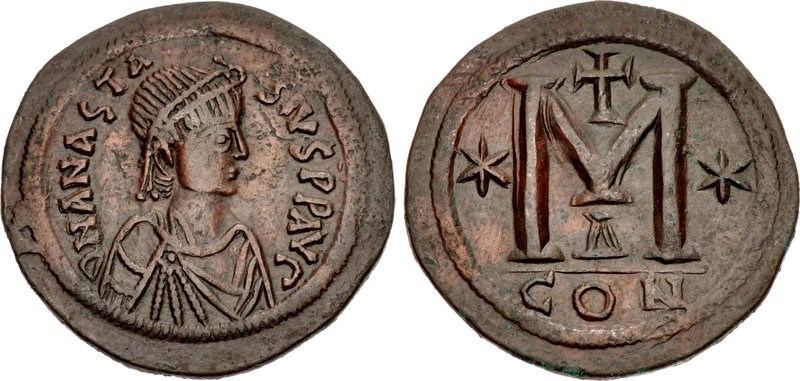 40-nummi (follis). Images courtesy Classical Numismatic Group, NGC