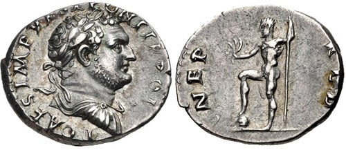 Imperial Mint Denarius of Vespasian, NGC Ancients