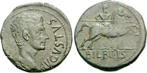 Bronze of the mint of Bilbilis. Images courtesy NGC Ancients