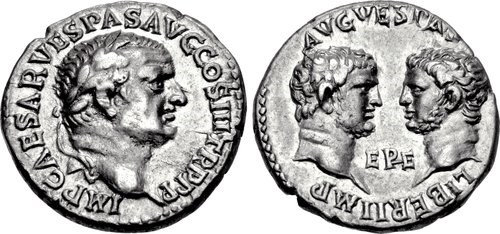 Emperor Vespasian and his sons, Titus and Domitian, NGC Ancients