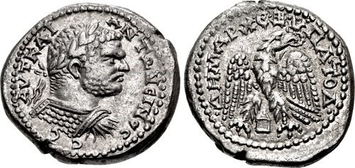 Roman tetradrachms with portrait of Caracalla, NGC Ancients