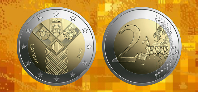 Baltic States Centenary 2 Euro Commemorative Coin, Bank of Latvia
