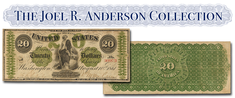 Anderson Collection 1861 $20 Demand Note . Image courtesy Stack's Bowers Galleries