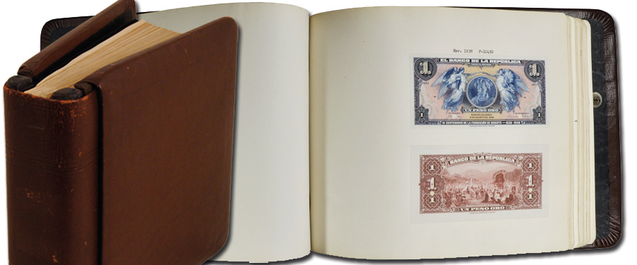 Colombian Banknote Proof Book from American Bank note Company Archives at 2018 NYINC Auction, courtesy Stack's Bowers Galleries