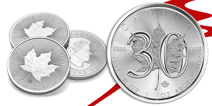 Royal Canadian Mint 30 Year Anniversary Bullion Silver Coins