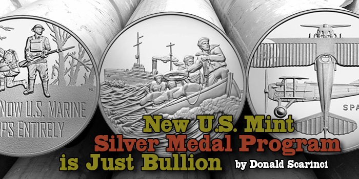 Newly Announced US Mint Silver Medal Program Is Just Bullion