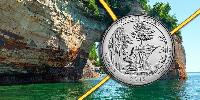 Pictured Rocks National Park - Washington Quarter