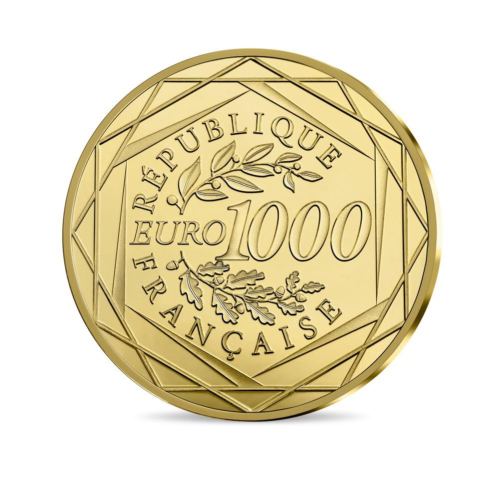 Reverse, France 2017 Marianne - Liberty 1,000 Euro Gold Coin. Image courtesy Monnaie de Paris