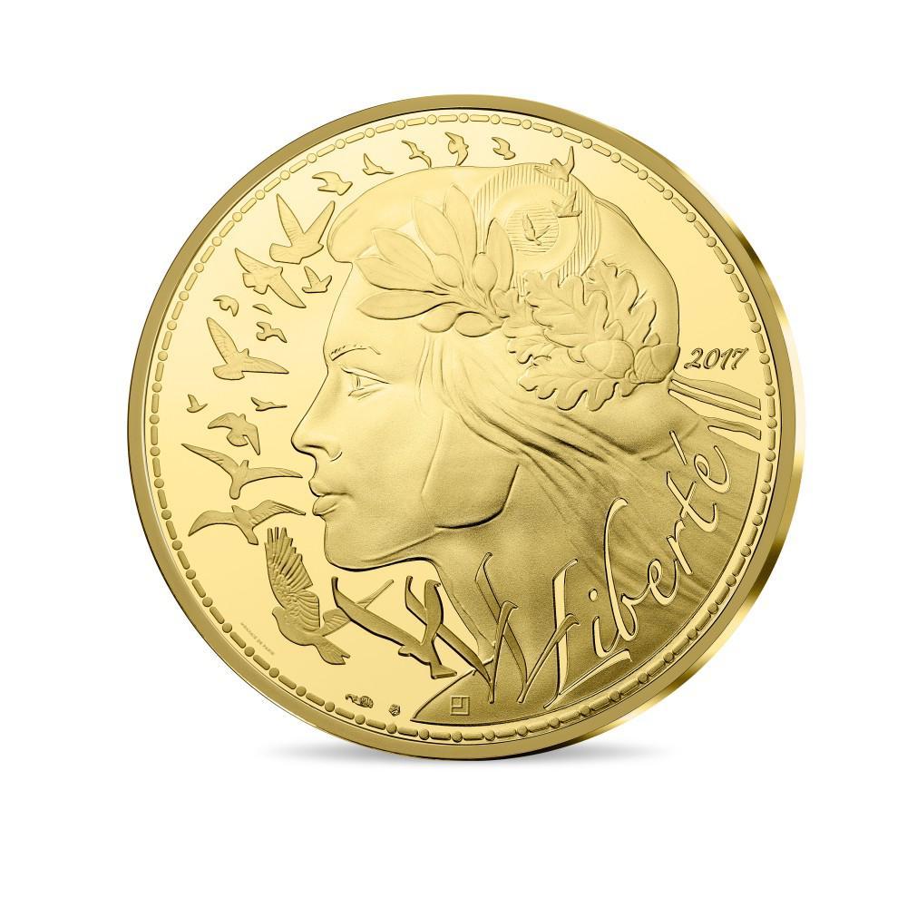Obverse, France 2017 marianne 5,000 Euro Gold Proof Coin. Image courtesy Monnaie de Paris