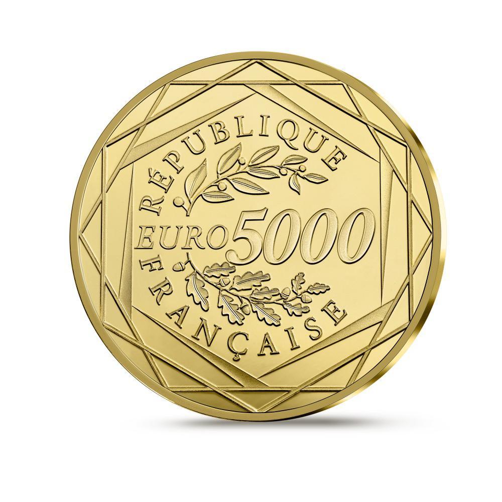 Reverse, France 2017 marianne 5,000 Euro Gold Proof Coin. Image courtesy Monnaie de Paris