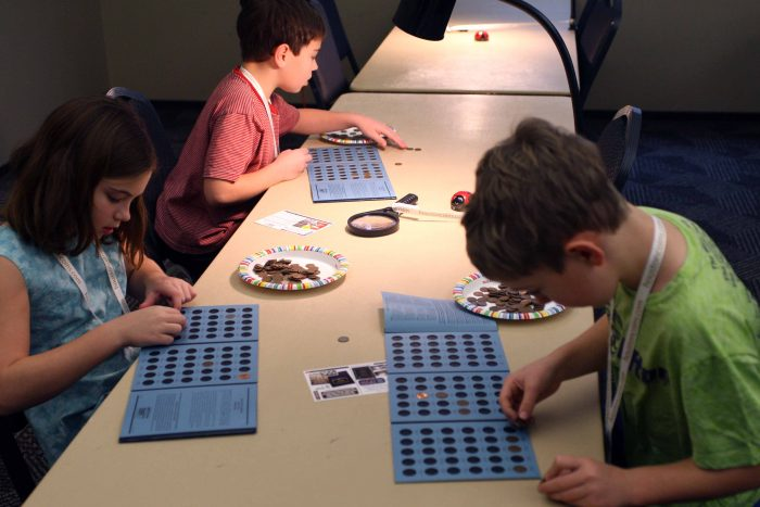 Put a penny in a slot - youth activity