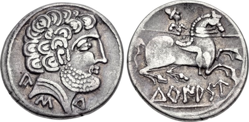 A denarius of Turiaso (Turiasu), modern-day Tarazona. Images courtesy CNG, NGC