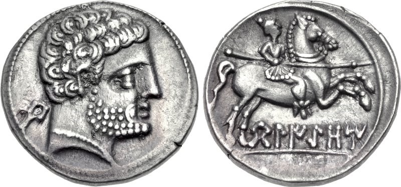 A denarius from Belikio. Images courtesy CNG, NGC