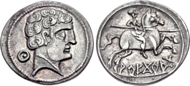 Denarius from Arekorata. Images courtesy CNG, NGC