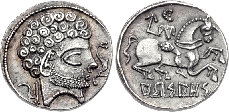 A denarius of Arsaos. Images courtesy CNG, NGC