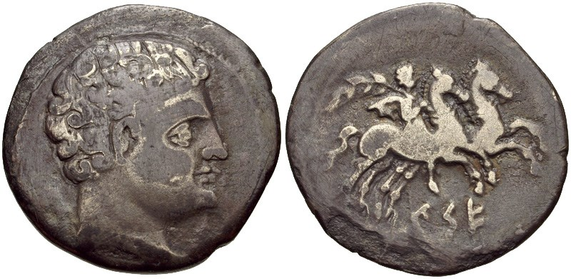 A denarius of Kese. Images courtesy CNG, NGC
