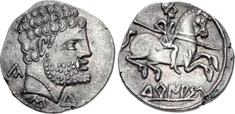 Denarius from Turiaso. Images courtesy CNG, NGC
