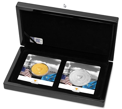 PGA Tour Gold Coin Set with Silver Coin