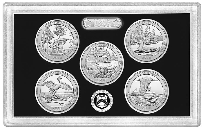 2018 United States Mint America the Beautiful Quarters Silver Proof Set ™