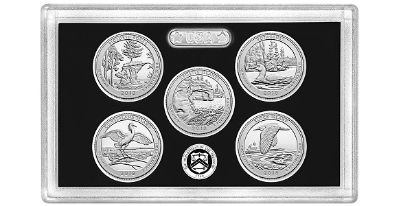 2018 S Apostle Islands Mint Reverse Silver Proof National Parks from Proof Set