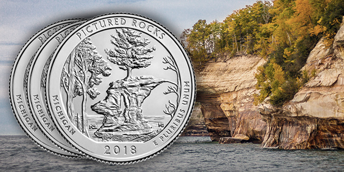 Pictured Rocks National Lakeshore 3-Coin Set U.S. Mint