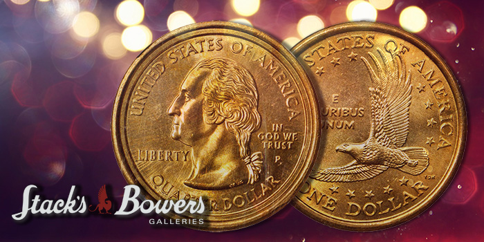 Stack's Bowers Sacagawea Dollar - Washington Quarter Mule 17th Error Coin