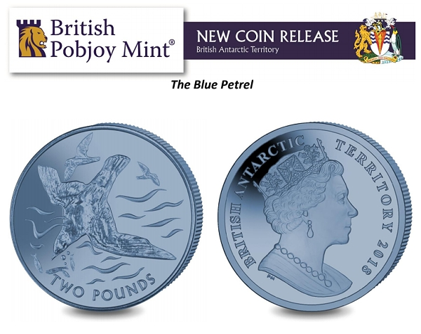 World Coin News - Blue Petrel Titanium Coin from Pobjoy Mint