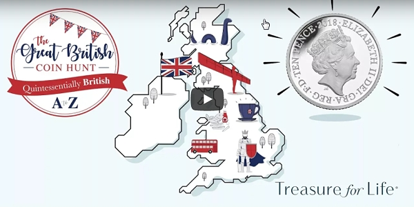 Royal Mint Reveals the A to Z of Britain Coin Hunt