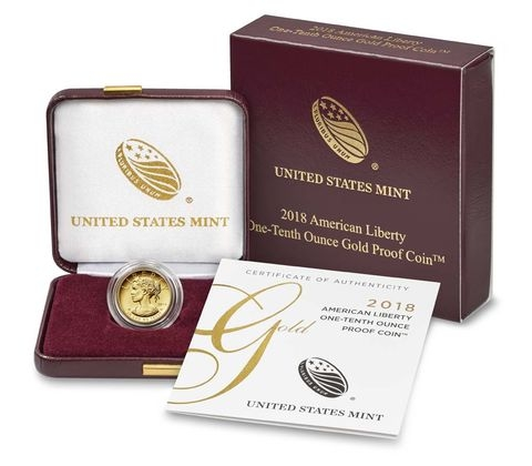 U S Mint Issues One Tenth Ounce American Liberty Gold