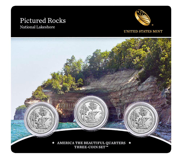 United States Mint - Pictured Rocks National Lakeshore - America the Beautiful Three-Coin Set