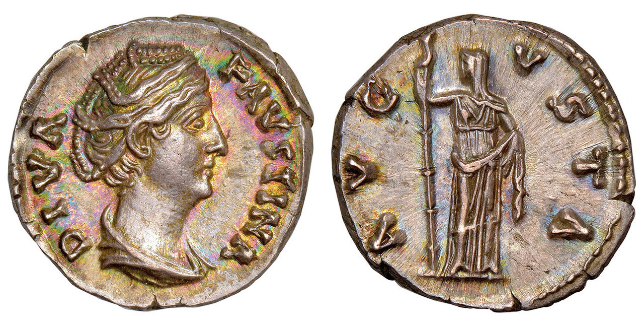 ROMAN IMPERIAL. Faustina Sr. (138-140/1 CE). Posthumous Issue, struck after 141 CE. AR Denarius. Images courtesy Atlas Numismatics