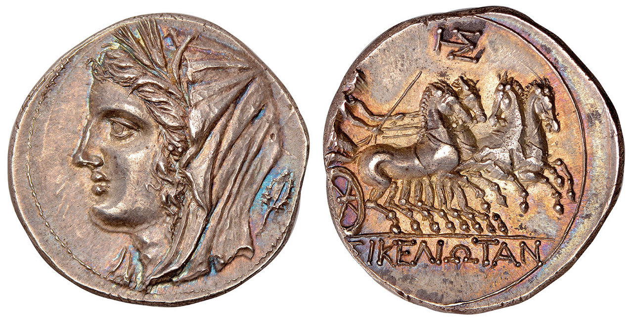 GREEK. SICILY. The Siceliotes (Sikeliotes). Struck circa 214/3-213/2 BCE. AR 8-Litrae. Images courtesy Atlas Numismatics