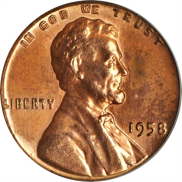 1958 Lincoln Cent DDO