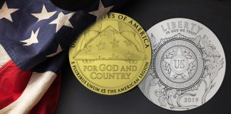 United States 2019 American Legion Centennial Commemorative Coin Program designs. Images courtesy US Mint