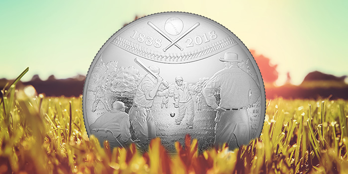 Royal Canadian Mint - 2018 Baseball Concave Coin Silver