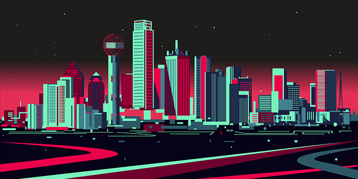 Illustration - Dallas Skyline