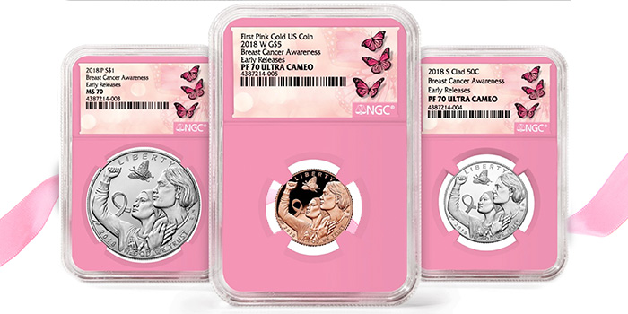 NGC Breast Cancer Pink Core Holders